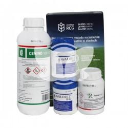 Zestaw RCG pakiet 4-5ha- Cevino 500SC 1l, Rassel 100SC 0,25l, Galmet 20SG 2x50g